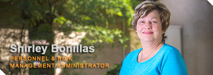 Personnel & Risk Management Administrator Shirley Bonillas